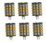 Best to Buy® 6 x GY6,35 / PaCK-G6,35 LED 6 .5W 49 x 5050 SMD Warm White A 12 V ~AC / DC 360° Illumination Halogen Replacement [Energy Class A++] (Warm White,2700k)
