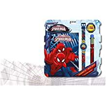 Spiderman - Set con Reloj, Diario y bolígrafo (Kids MV92382)