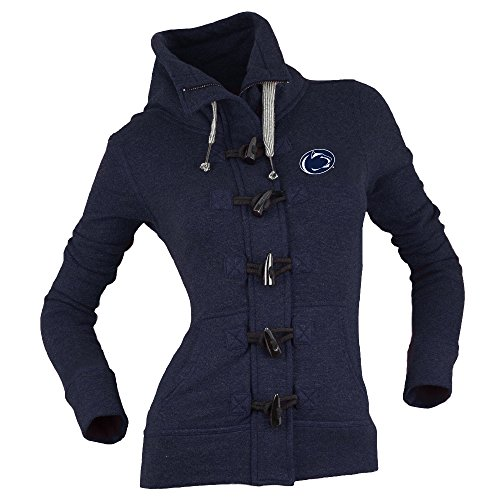 Bruzer NCAA Penn State Nittany Lions Damen Nantucket Fleece Toggle Zip Pullover, Marineblau, groß Penn-fleece-pullover