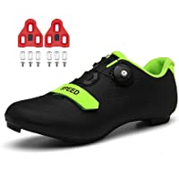 Cycling Shoes for Mens Womens Indoor Peloton Road Bike Shoes Included Cleats Clip Compatible Look Delta and SPD Lock…