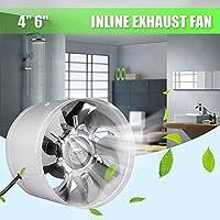 Alftek 642/50004Inch/6Inch Inline Canal Fan Booster Canalizado Ventiladores Refrigeración por Aire Vent Metal Cuchillas, Blanco, 6 Pulgadas
