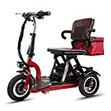 XCBY Electric Mobility Scooter 3 Wheeled ?Folding Portable Lightweight?250W Faster?Travel Pavement Fits in Most Car Boots