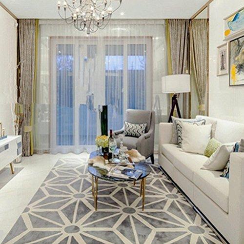 Bath Time Flagship Store LUYIASI- Geometrische Muster Teppich Wohnzimmer Europäischen Modernen Sofa Couchtisch Schlafzimmer Nacht Rechteck Non-Slip Mat (Farbe : A, größe : 140x200cm) -