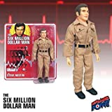 The Six Million Dollar Man Steve Austin (Khakis) 8-Inch Retro Style Action Figure