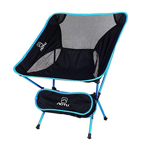 ZCJB Chaise Pliante Extérieure Portable Ultralight Moon Chaise Aviation Aluminium Pêche Chaise Loisirs Chaise (Couleur : Le Ciel Bleu)