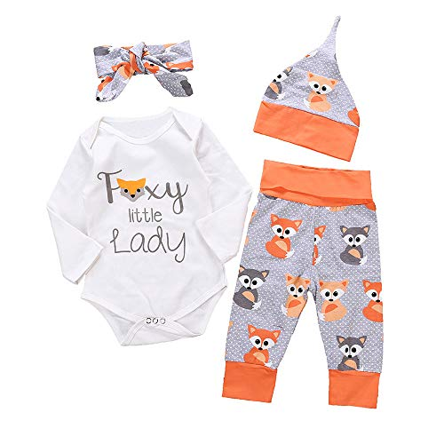 Kindermode Herbst Winter Baby Jungen Mädchen 3 Stück Bekleidungsset,Yanhoo Baby Langarm Brief Regenbogen Cartoon Druck Robe Jumpsuit Playsuit Strampler Outfit + Hosen + ()