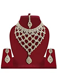 Bollywood Style Gold Plated Bridal Jewellery Sets For Wedding Girl / Diamond Necklaces Set For Party / Necklace...