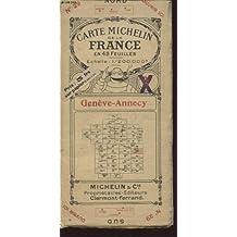 CARTE MICHELIN DE LA FRANCE N°29 EN 48 FEUILLES : GENEVE ANNECY