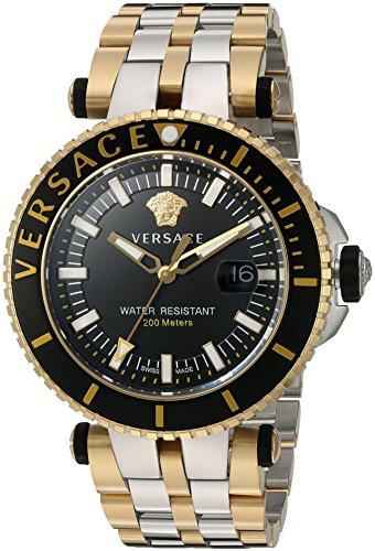 Versace VAK040016 - Reloj analógico de Cuarzo con Correa de Acero Inoxidable para Hombre