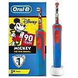 ORAL B Kids - Brosse à Dents Électrique avec Personnages Mickey - édition 90 ans