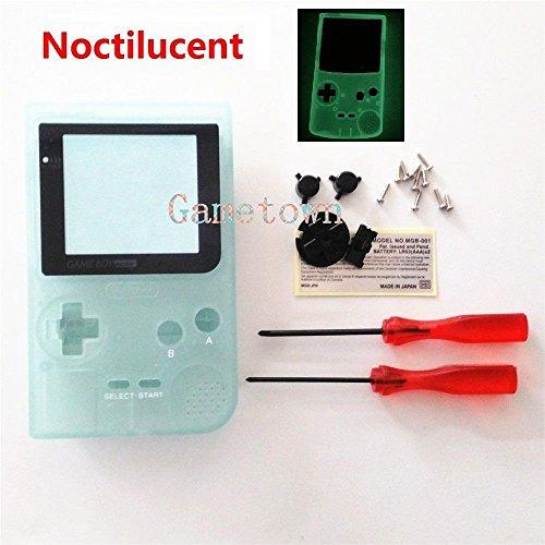 gametown New Hintergrundbeleuchtung Hintergrundbeleuchtung Gehäuse Shell Schutzhülle Ersatzteile für Nintendo Gameboy Pocket Konsole GBP System, Luminous Green Edition (Game Boy-system)
