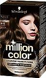 Million Color Intensiv-Pigment-Farbe 4-5, goldbraun, Stufe 3, 3er Pack (3 x 126 ml)