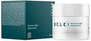 Marchio Amazon - Belei - Crema da notte idratazione intensa, 94.9% ingredienti naturali, vegana, 50 ml