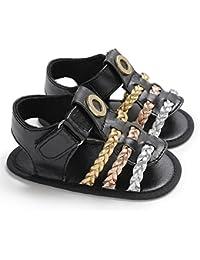 Zapatos de niños, Calzados/Zapatillas/Sandalias de niños Zapatos de bebé niña Sandalias Tejidas de Moda de Verano Soft Sole