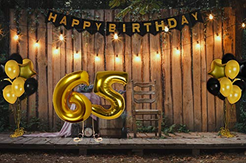 Aisence Treasures Gifted 65th Birthday Decorations Happy Bday Banner Party Kit Pack B Day Celebration