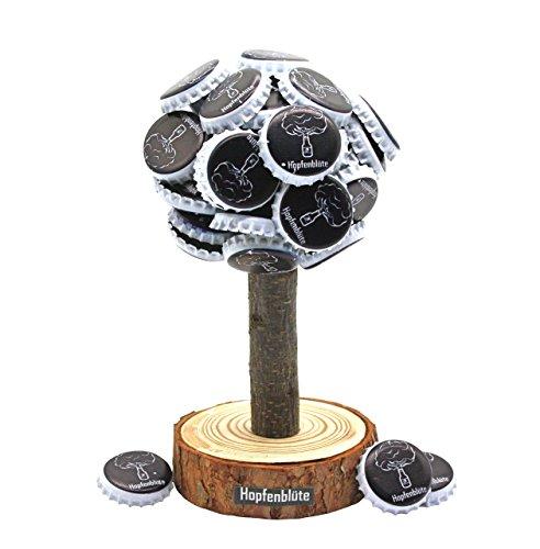 51Yom1pQ8mL - HOPFENBLÜTE ® - Magnetbaum Holz - Männer Geschenk Geburtstag - Partygeschenk - Bis zu 60 Kronkorken - Magnetbaum - Bier