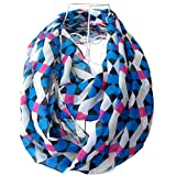 Tapp Collections Multicolor Rhombus Print Infinity Scarf - Blue