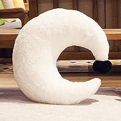 BAONZEN Almohada de Dibujos Animados sofá de la Sala cojín Anime muñeca de Peluche de Juguete muñeca Almohada para Dormir, Luna Blanca, 35 * 40 cm