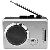 DigitNow! Mini Stereo Audio Retro Personal Cassette Player Wireless AM/FM Radio and Voice Radio Cassette Recorder with Earphones