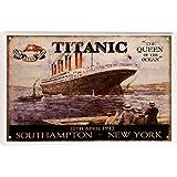 Titanic South Hampton - New York metalen bord 20 x 30 cm retro blik 566