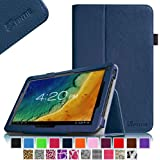 """Fintie Premium Leather Folio Case Cover Protective Carrying Case for 10.1 """"Android Tablet PC included. Tabexpress (10 inch) Tablet-PC, Polatab Elite Q10.1"""" Simbans (TM) S10W 10 inches, iStyle 2014 New 10.1 Zoll (10.1 Zoll Tablet, Navy)"""