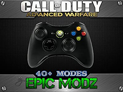 Epic Modz Xbox 360 Enhanced Custom Black Controller - Advanced Warfare,