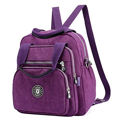 1f21b18548 Myhozee Backpack Handbag Backpack - Waterproof Nylon Lightweight Shoulder  Bags Messenger Cross Body Casual Daypack Multifunction