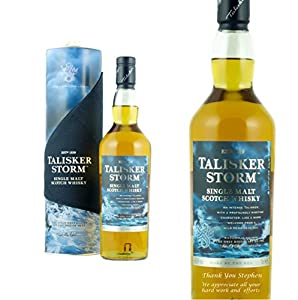 Personalised Talisker Storm Whisky 70cl Engraved Gift Bottle from Talisker