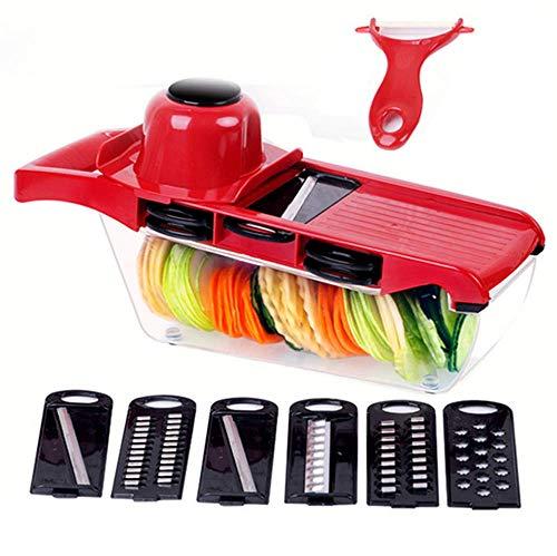 WFFH Slicer Mandoline Gemüse Schneidemaschine Schleifer 6 Austauschbare Klinge, Slicer Für Die...