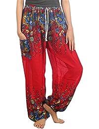 Lofbaz Mujeres Harén Pantalones de Cintura de cordón Ropa ... 73f63c7a1a9b