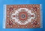 Unbekannt Puppenstuben Teppich beige/orange 16 x 10 cm Puppenhaus Möbel Miniatur 1:12