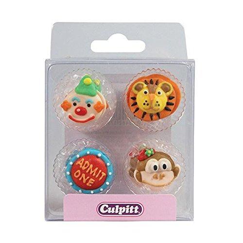 Circus Sugar Decorations - 12 pack