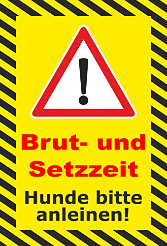 Schild 30x20cm Brut- und Setzzeiten - 3mm Aluverbund   Bohrlöcher - 20 Varianten