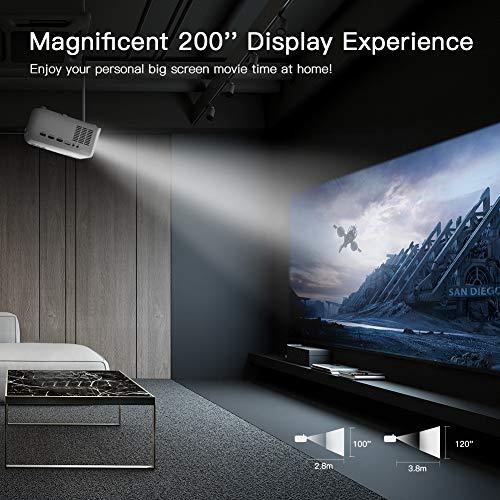 Zoom IMG-3 proiettore apeman portatile videoproiettore 4500