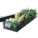 GYMhz Balkon Blumenständer hängend Regal Sukkulenten Eisenkunst Topfwandhalterung Geländerblumenständer (größe : 60 * 20 * 12cm)