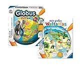 Ravensburger Tiptoi 005154 Interaktiver Globus Puzzleball 96 Teile und Buch Mein großer Weltatlas 9120049246588