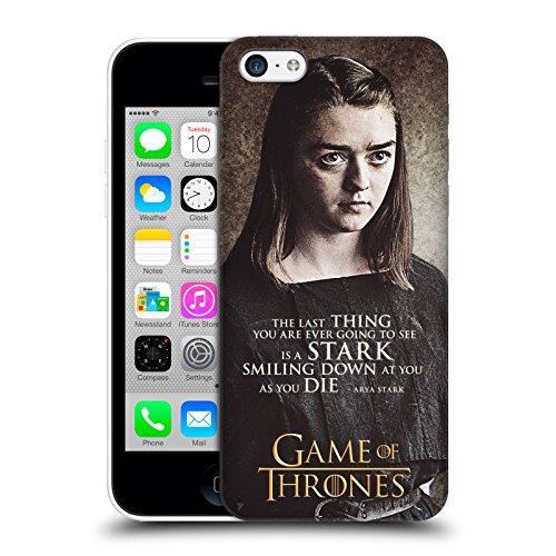 Offizielle HBO Game Of Thrones Daenerys Targaryen Zeichen Zitate Ruckseite Hülle für Apple iPhone 5 / 5s / SE Arya Stark