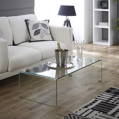 Geo-Glass Clear Rectangular Coffee Table (with Toughened Safety Glass)