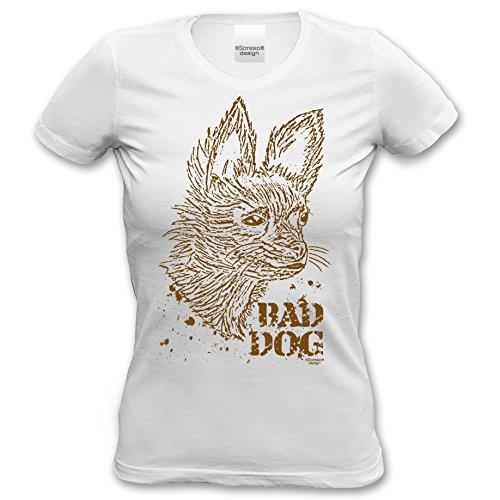 Katzen Hunde Damen T-Shirt Girlie :-: Geschenk Idee Für Hundebesitzer :-