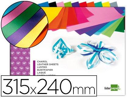 Liderpapel - Bloc trabajos manuales charol 240x315mm 10hojas colores surtidos (10 unidades)