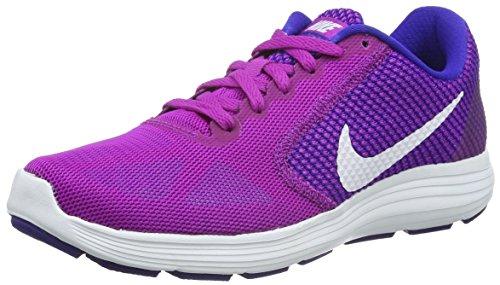 Nike Revolution 3, Chaussures de Running Compétition Femme Vert (Hyper Violet/White Concord Gamma Blue)