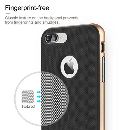 iPhone SE 5S 5 Hülle - Rock Royce Hybrid Case für iPhone SE 5S 5 Handy Tasche Bumper Schutz Hülle - Silber Gold