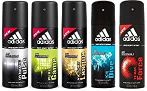 Adidas Deodorant For Men 150 Ml (Pack Of 5)