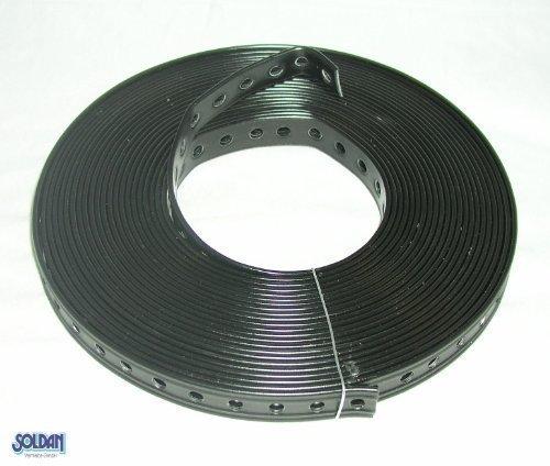 ulith-nastro-forato-per-il-montaggio-19-mm-x-10-m-rivestimento-in-plastica-colore-nero