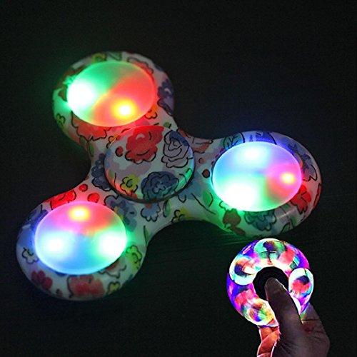 Preisvergleich Produktbild Fidget Hand Spinner LED Licht Torqbar Spinner Finger Spielzeug EDC Focus Gyro Geschenk (D)