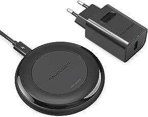 RAVPower Wireless Charger aktualisierte Version Qi kabellose Ladegerät Induktionsladegerät 7.5W für iPhone X, iPhone 8 Plus, iPhone 8 Schnelles Laden