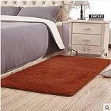 KELE Plüsch Teppich,Dekorativ teppiche Modernes Teppich-teppiche für Schlafzimmer Wohnzimmer Studieren Einfaches Restaurant Bett-E 120x160cm(47x63inch)