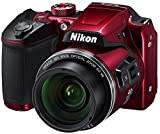 Nikon Coolpix B500 Camera (Red) with 8GB SD Card, Camera Bag and HDMI