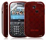 Seluxion - Coque étui housse en gel pour Samsung Chat 335 S3350 couleur Rouge