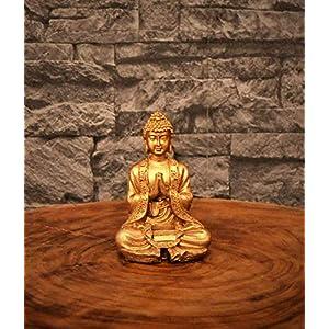 Kleine Buddha-Figur, Altgold